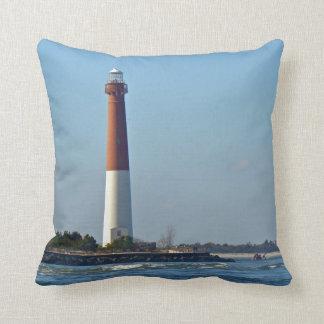 Barnegat Lighthouse Long Beach Island New Jersey Pillow
