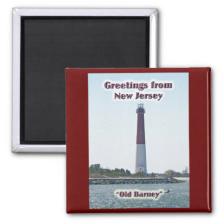Barnegat Lighthouse NJ Greetings Magnet