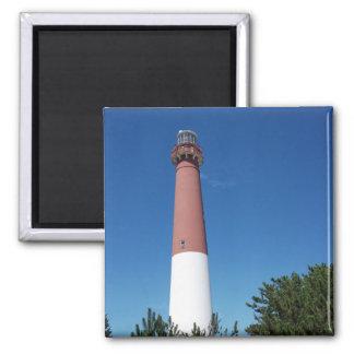 Barnegat Lighthouse Old Barney 2 Inch Square Magnet