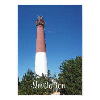 "Barnegat Lighthouse: Old Barney 5"" X 7"" Invitation Card"