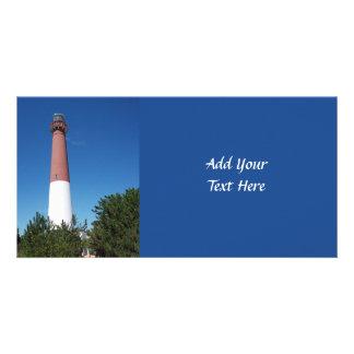 Barnegat Lighthouse: Old Barney Personalized Photo Card