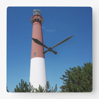 Barnegat Lighthouse Old Barney Square Wall Clock