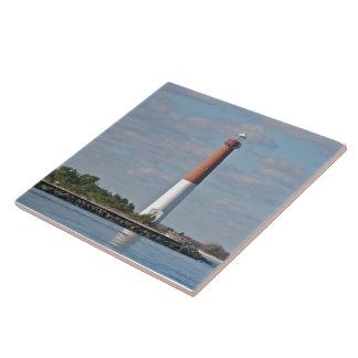 """Barnegat Lighthouse - """"Old Barney"""" Ceramic Tiles"""
