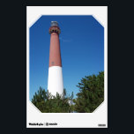 """Barnegat Lighthouse Old Barney Wall Sticker<br><div class=""""desc"""">This is a photo of Barnegat Lighthouse, affectionately known as &quot;Old Barney&quot;. It was taken on a beautiful sunny day from the nearby maritime forest at Barnegat Lighthouse State Park at the Jersey Shore. Pine trees can be seen in the foreground. This lighthouse is located on the north end of...</div>"""