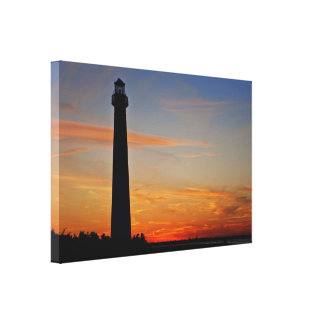 Barnegat Lighthouse Sunset Wrapped Canvas Gallery Wrapped Canvas
