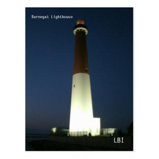 Barnegate Lighthouse at Night Postcard