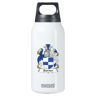 Barner Family Crest 10 Oz Insulated SIGG Thermos Water Bottle