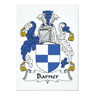 Barner Family Crest 5x7 Paper Invitation Card