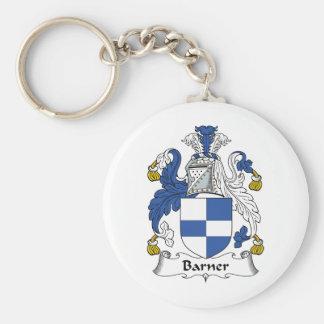 Barner Family Crest Basic Round Button Keychain