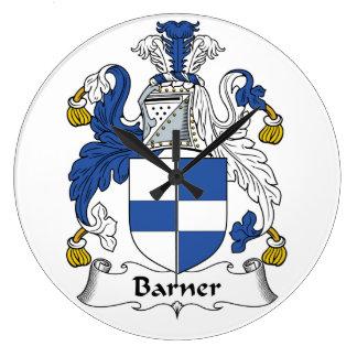 Barner Family Crest Clocks