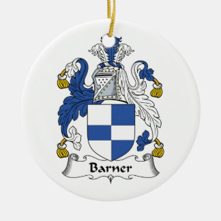 Barner Family Crest Double-Sided Ceramic Round Christmas Ornament