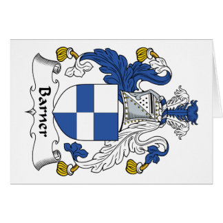 Barner Family Crest Greeting Card