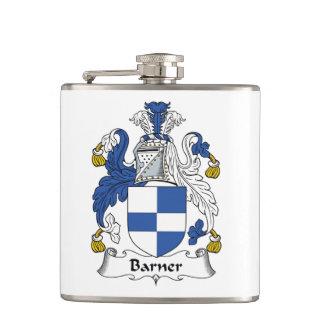 Barner Family Crest Hip Flask