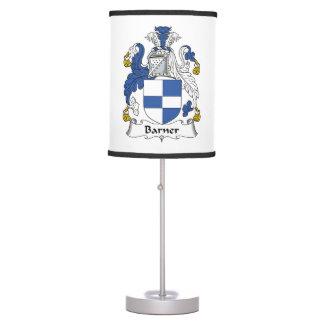 Barner Family Crest Table Lamps