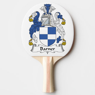 Barner Family Crest Ping Pong Paddle