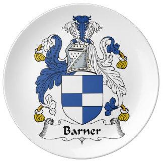 Barner Family Crest Porcelain Plates