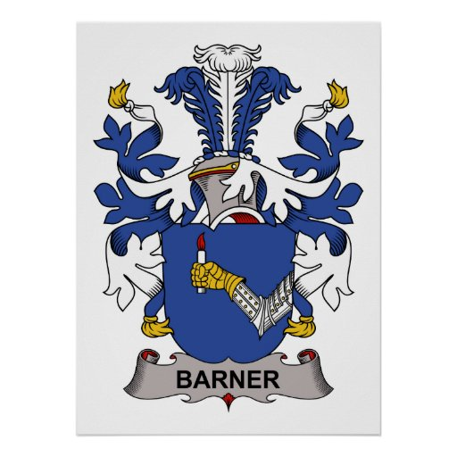 Barner Family Crest Poster
