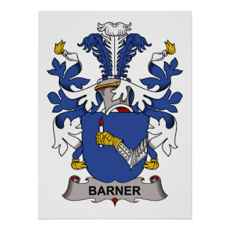 Barner Family Crest Posters