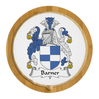 Barner Family Crest Round Cheese Board