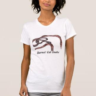 Barnes' Cat Snake Ladies Petite T-Shirt