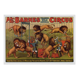 Barnes Circus Advertising Poster From the 1920's
