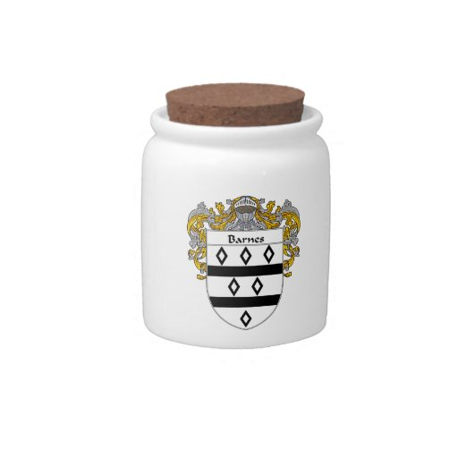 Barnes Coat of Arms/Family Crest Candy Jars