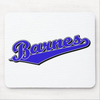 Barnes en azul tapetes de ratón