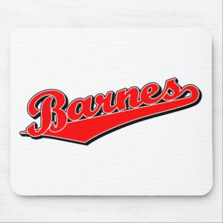 Barnes en rojo mousepads