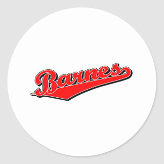 Barnes en rojo etiquetas redondas