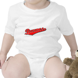 Barnes en rojo traje de bebé