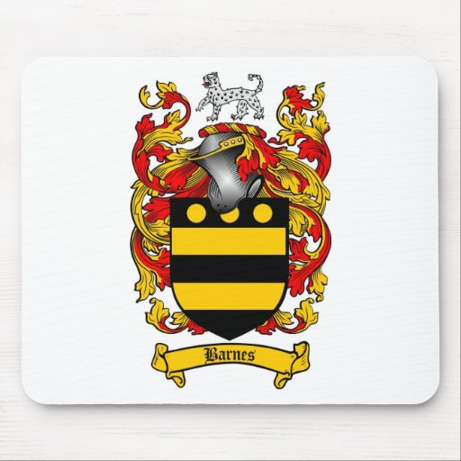 BARNES FAMILY CREST -  BARNES COAT OF ARMS MOUSE PAD