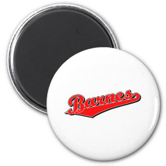 Barnes in Red 2 Inch Round Magnet
