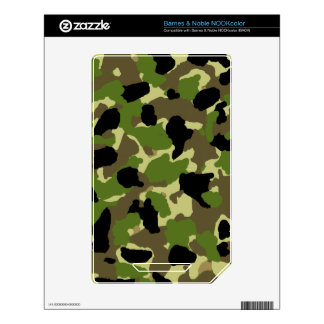 Barnes & Noble NOOKcolor Camouflage Custom Skin Decals For The NOOK Color