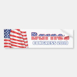 Barnes Patriotic American Flag 2010 Elections Car Bumper Sticker