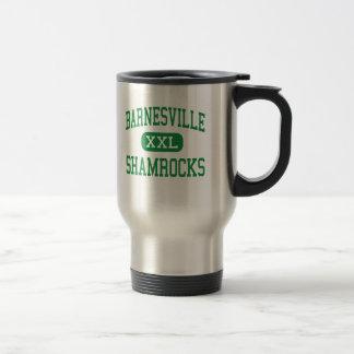 Barnesville - Shamrocks - High - Barnesville Ohio 15 Oz Stainless Steel Travel Mug