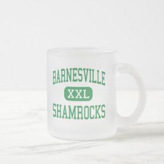 Barnesville - Shamrocks - High - Barnesville Ohio 10 Oz Frosted Glass Coffee Mug