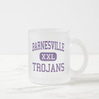Barnesville - Trojans - High - Barnesville 10 Oz Frosted Glass Coffee Mug