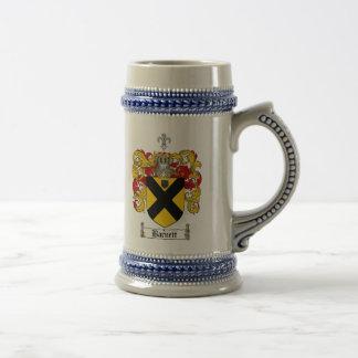 Barnett Coat of Arms Stein / Barnett Family Crest