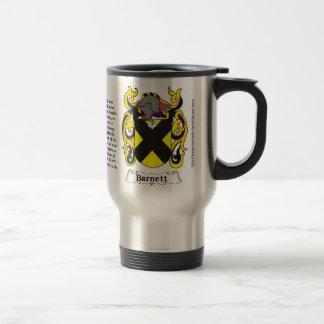 Barnett Family Coat of Arms on a Travel Mug