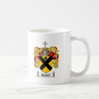 BARNETT FAMILY CREST -  BARNETT COAT OF ARMS CLASSIC WHITE COFFEE MUG