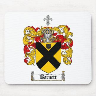 BARNETT FAMILY CREST -  BARNETT COAT OF ARMS MOUSE PAD