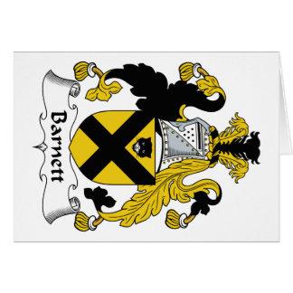 Barnett Family Crest Card