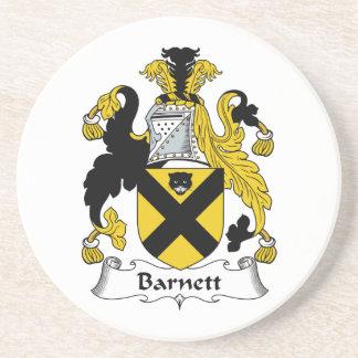 Barnett Family Crest Drink Coaster