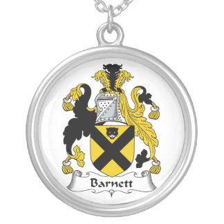 Barnett Family Crest Round Pendant Necklace