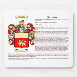 Barnette (meaning) mouse pad