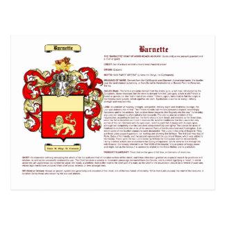Barnette (meaning) postcard