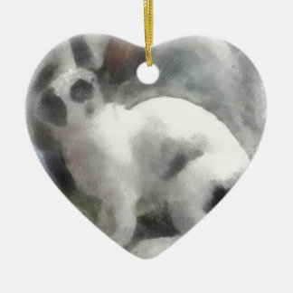 Barney Adorno Navideño De Cerámica En Forma De Corazón