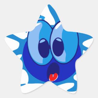 Barney el calamar calcomania forma de estrella personalizada