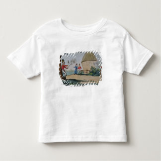 Barney fighting a duel toddler t-shirt