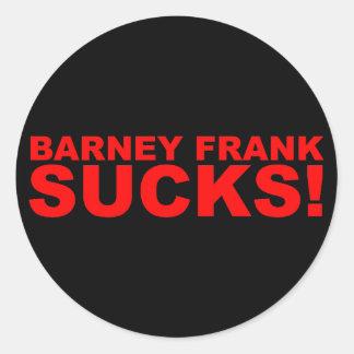 ¡Barney Frank chupa! Pegatina Redonda